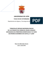 """""""PRINCIPALES RIESGOS MICROBIOLÓGICOS DE LOS PRODUCTOS CARNICOS ENVASADOS EN ATMOSFERAS MODIFICADAS"""