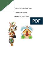 edu 490-my classroom discipline plan
