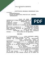 Demanda Restitucion Inmubele c.g.p.