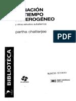 Chatterjee Partha_La Nacion en Tiempo Heterogeneo