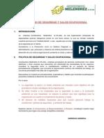 Plan Interno de Seguridad y Salud Ocupacional11111