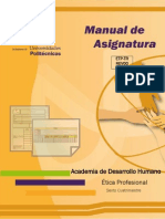 Manual de Asignatura Etica Profesional