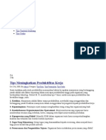 Tips Meningkatkan Produktifitas Kerja