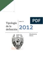 Tipologia de La Definicion
