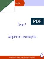 Tema 2 Adquisición de conceptos