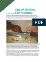 Los orígenes del Mitraísmo, entre oriente y occidente
