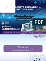 POSTGRADUATE EDUCATION … JUST FOR YOU