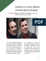 Enfermo Terminal y Su Novio Sellaron Primer Matrimonio Gay en Uruguay