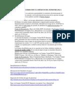 CALENDARIO DE DERECHOS ACADÉMICOS DEL SEMESTRE 2012