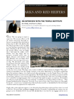 Temple Institute Interview Article