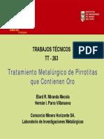 Tratamiento Metalurgico de Pirrotitas