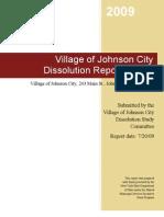 Village of Johnson City NY Dissolution Report