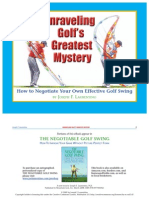 Unraveling Golf