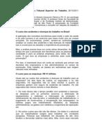 Artigo José Pastore - Custo dos acidentes de trabalho no Brasil
