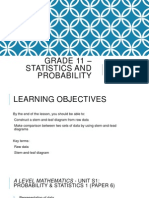 Grade 11 – Statistics and Probability