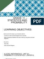 Grade 11 – Statistics and Probability