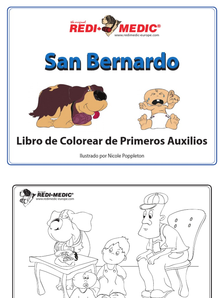 San Bernardo - Libro de Colorear de Primeros Auxilios