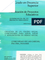 Anteproyecto Julio 2013 Pds Ppe