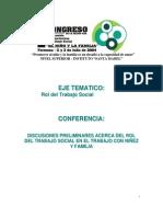 conferencia rol del ts en  familia y niñez-formosa-2004