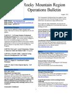 RMR Operations Bulletin - Aug 2013