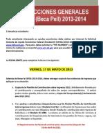 Instrucciones Generales Beca Pell 2013-2014