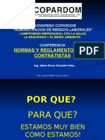 Normas y Reglamentos para Contratistas - Ing. Jaime González