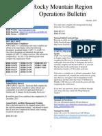 RMR Operations Bulletin - Oct 2013