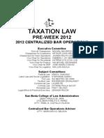 Tax Preweek 2012