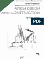 Foundation Design Construction - Tomlinson, 2001