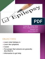 Chasity Dailey -Epilepsy Power Point Presentation
