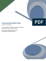 MICR E13B font for check printing