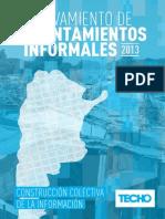 INFORME TECHO Relevamientos de Asentamientos 2013