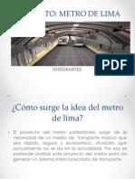 Proyecto Del Metro de Lima