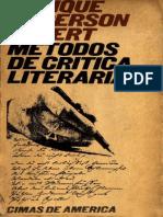 Anderson Imbert, Enrique - Métodos de crítica literaria