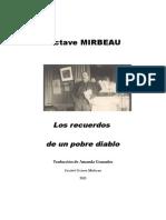 """Octave Mirbeau, """"Los recuerdos de un pobre diablo"""""""
