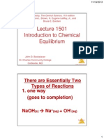 lecture 1501 -- introduction to chemical equilibrium
