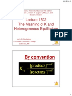 lecture 1502 -- the meaning of k and heterogeneous equilbrium
