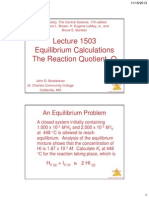 lecture 1503 -- equilibrium calculations