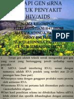 Terapi Gen Sirna Untuk Penyakit Hiv