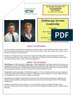 December 18 Green Bay SHRM Lunch Meeting- Servant Leadership