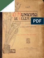 O município de Belém. Relatório de Antônio José Lemos. 1905