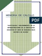 Memoria de Calculo de Colegio