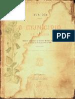 O município de Belém. Relatório de Antônio José Lemos. 1897 - 1902