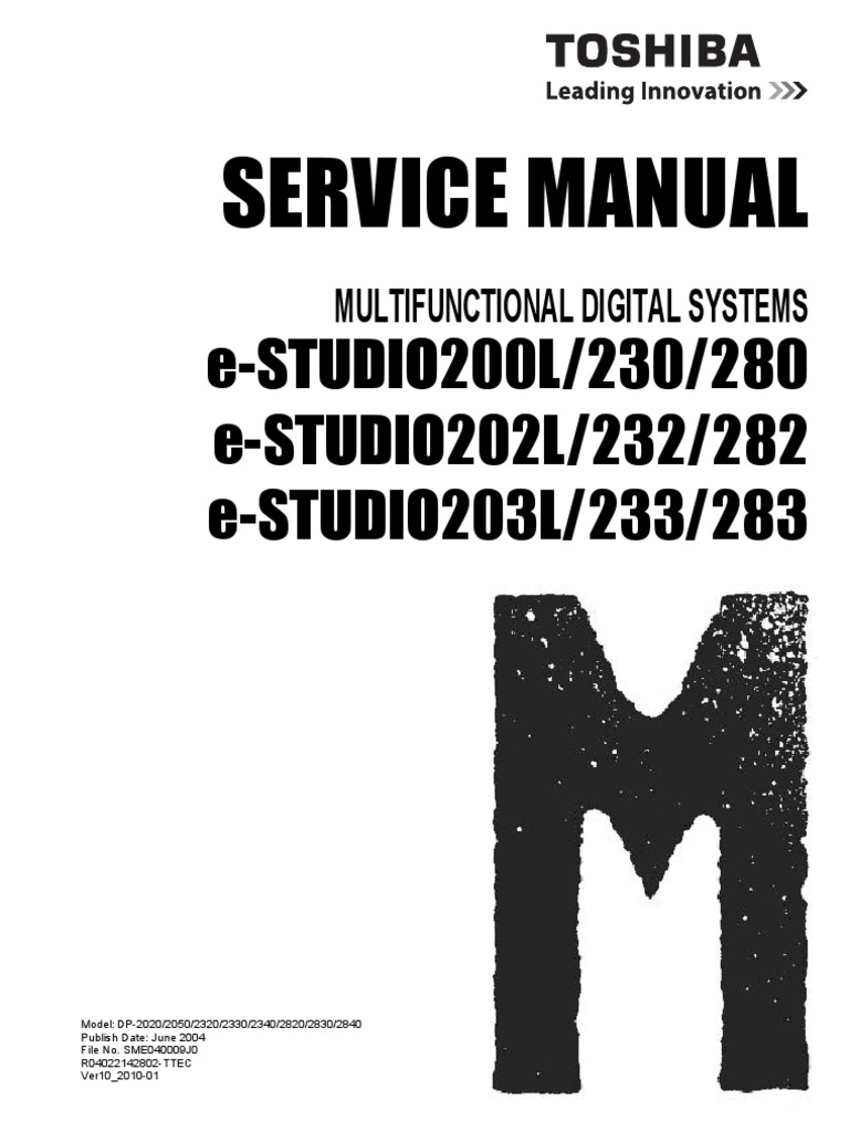 toshiba e studio 280 service manual