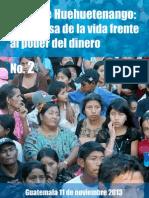 Norte de Huehuetenango Boletín 2