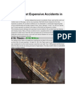 Top 10 Most Expensive Accidents in History