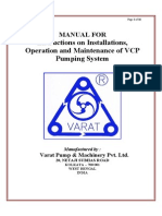 Maintenance Manual VCP Upto 80mm