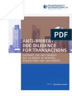 TI-UK Anti-bribery Due Diligence for Transactions May 2012