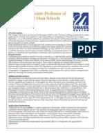 Assistant/Associate Professor of Leadership in Urban Schools, University of Massachusetts Boston