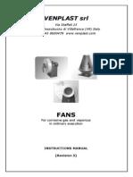 Venplast s.r.l. Ventilatori Industriali - Manuali Di Istruzioni_en